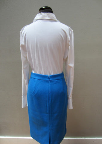J.Crew Electric Blue Pencil Skirt, 2