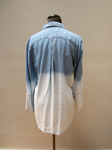 Bella Dahl Ombre Chambray Shirt, M