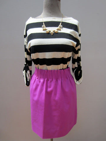 J.Crew Smocked Waist Purple Skirt, 12