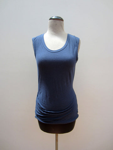 James Perse Blue Striped Tank, 3
