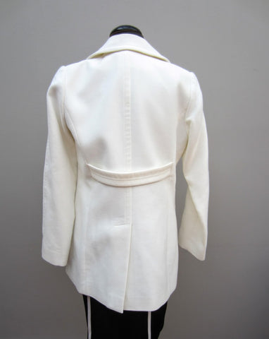 Etcetera Double-Breasted White Coat, 4