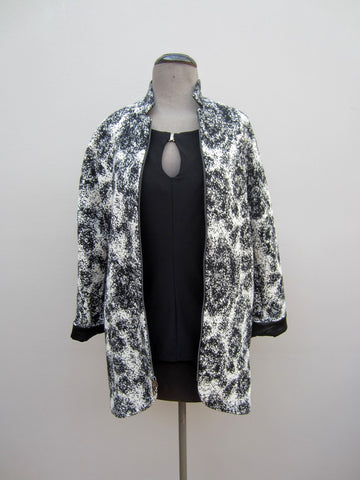 Etcetera Black & White Coat, 0