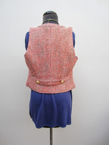 Cache Gold Chain Tweed Vest, 8
