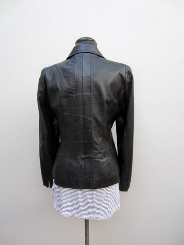 Anne Klein Black Leather Jacket, 8
