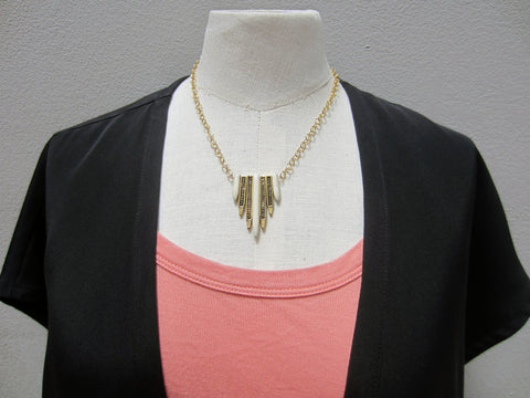 David Aubrey Bone Fringe Necklace