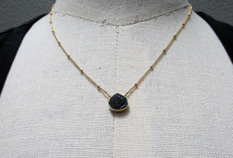Margaret Elizabeth Jewelry Dana Druzy Teardrop Necklace