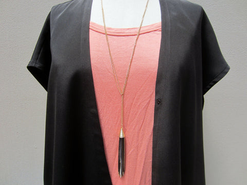 Bay to Baubles Tassel Lariate Necklace