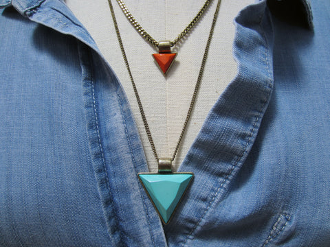 Bay to Baubles Lindsay Layered Triangle Necklace