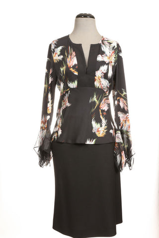Diane Von Furstenberg Abstract Blouse, S