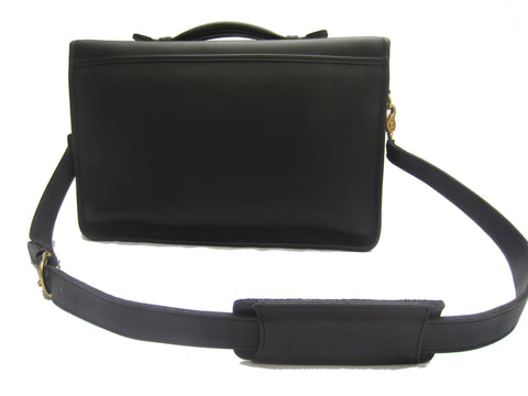 Leather Coach Briefcase with Top Handle