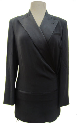 Jean-Paul Gaultier Femme black wide-legged suit, 6