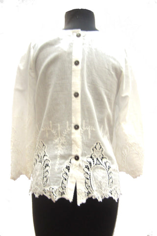 Everly White Lace Top