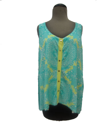 Evolution Knit Tile Print Tank, L