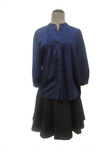 41Hawthorn Midnight Blue Tunic Blouse