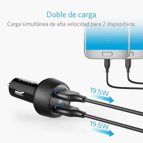 Cargador de auto PowerDrive Speed 2Qc