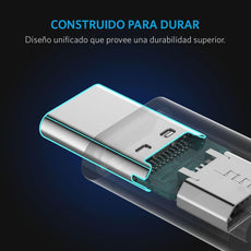 Adaptador PowerLine USB-C a Micro USB