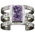 Gunmetal Inlay Cage Cuff with Amethyst Druzy by Pamela Love for Liberty United