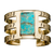 Bullet Inlay Cage Cuff with Turquoise by Pamela Love for Liberty United