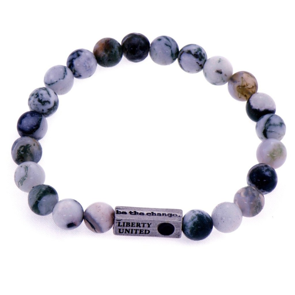be the change.  tree agate bracelet