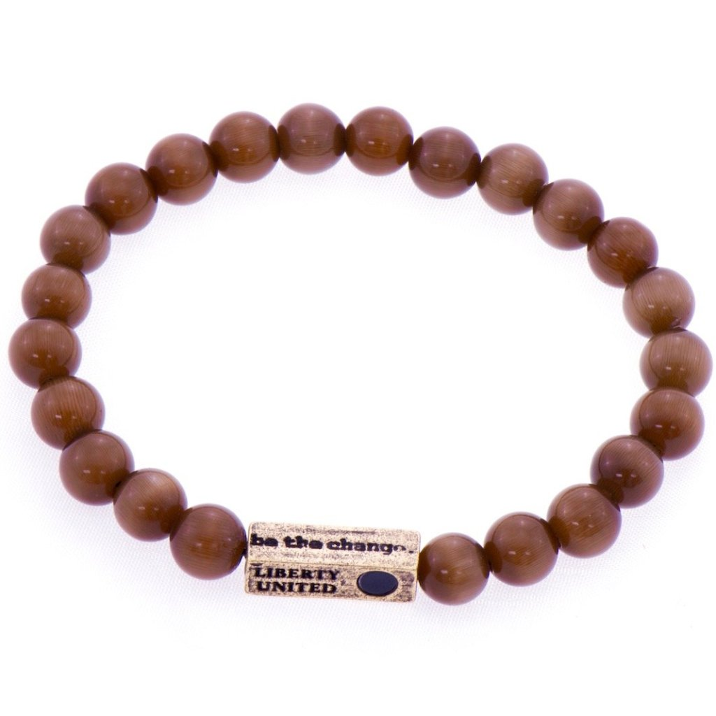 be the change. cat's eye bracelet