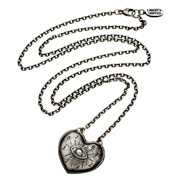 Gunmetal Aeternum Pendant Necklace by Pamela Love for Liberty United