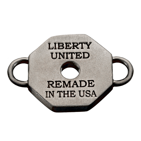 Remade in the USA Gunmetal Tag Charm