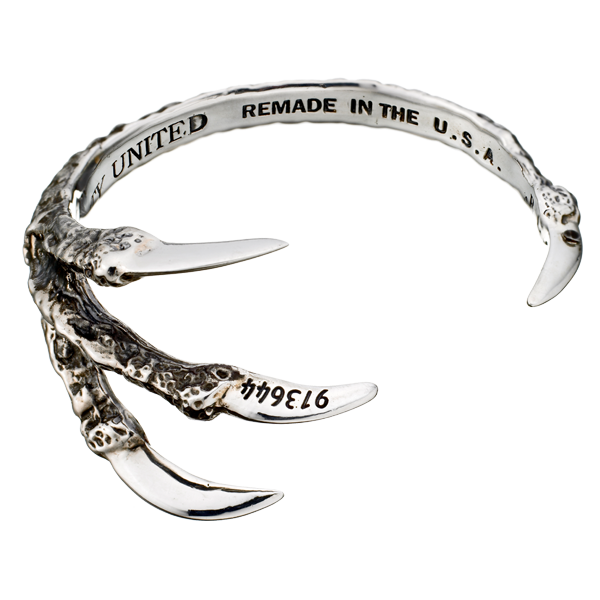 Silver & Gunmetal Talon Cuff by Pamela Love for Liberty United
