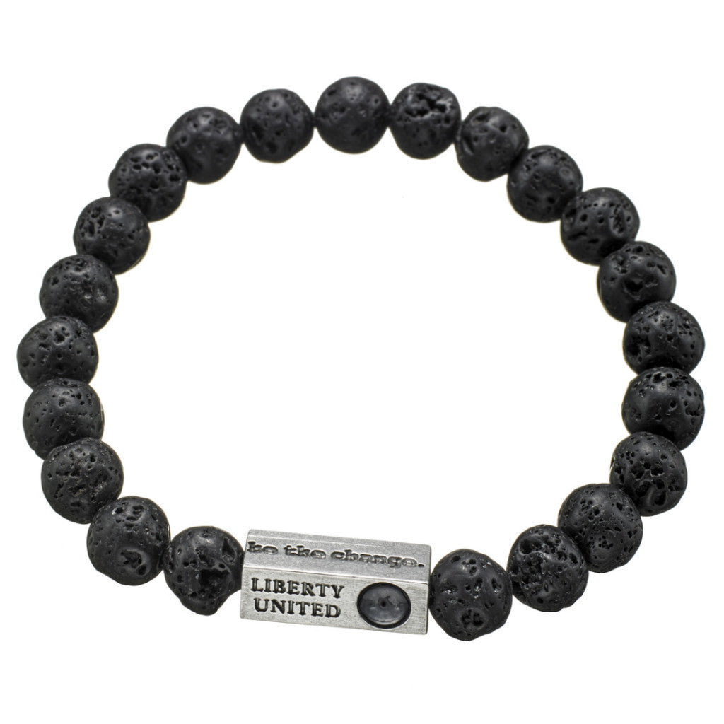 be the change. black lava bracelet