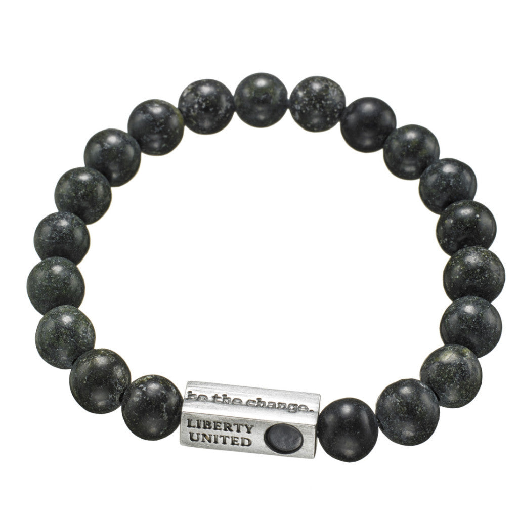 be the change. serpentine crystal bracelet