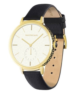 Halcyon Days - Maya Sport Watch - Black & Gold - Luxor Box