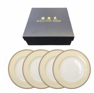 Halcyon Days - Antler Trellis Plates - Set of 4 - Luxor Box