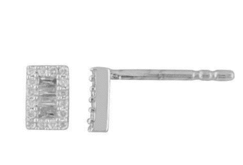 LaSoula - Diamond Baguette Earrings & Necklace - Luxor Box