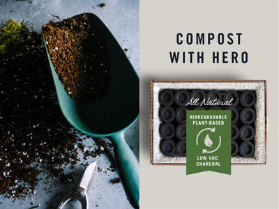 How to Compost HERO Charcoal Pods