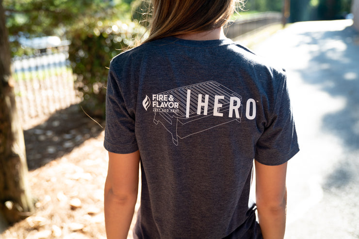 HERO Premium T Shirt in Heather Navy