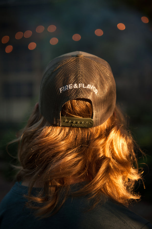 Fire & Flavor Flame Trucker Hat
