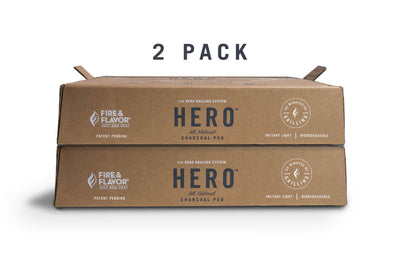 HERO Charcoal Pod 2pk. Take Grilling wherever you go with these waterproof, portable charcoal pods.