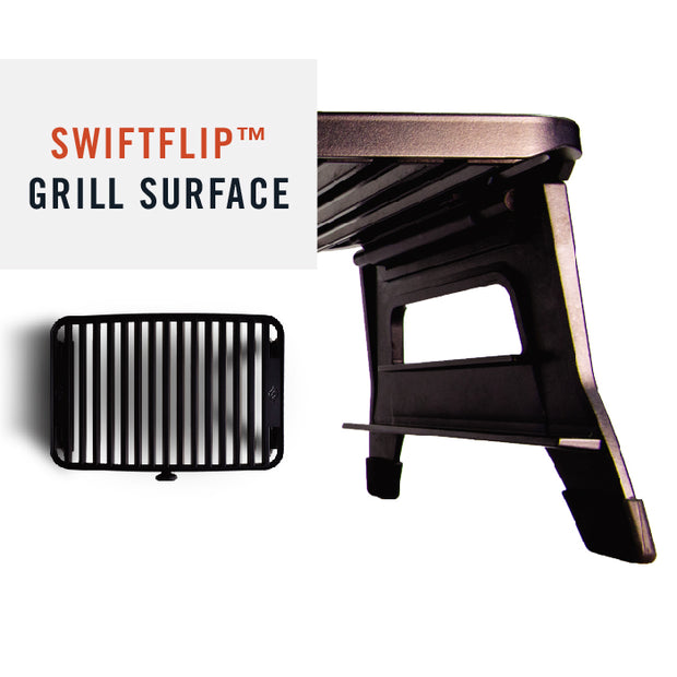 Hero Swiftflip Grill Surface is Ceramic Coated and Non-stick