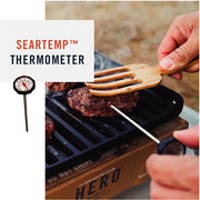 Hero Seartemp Thermometer is a multi-function thermometer for checking temperature of the grill and the food.