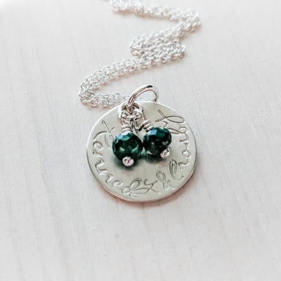 Birthstone Necklace Gift for Mom of Twins