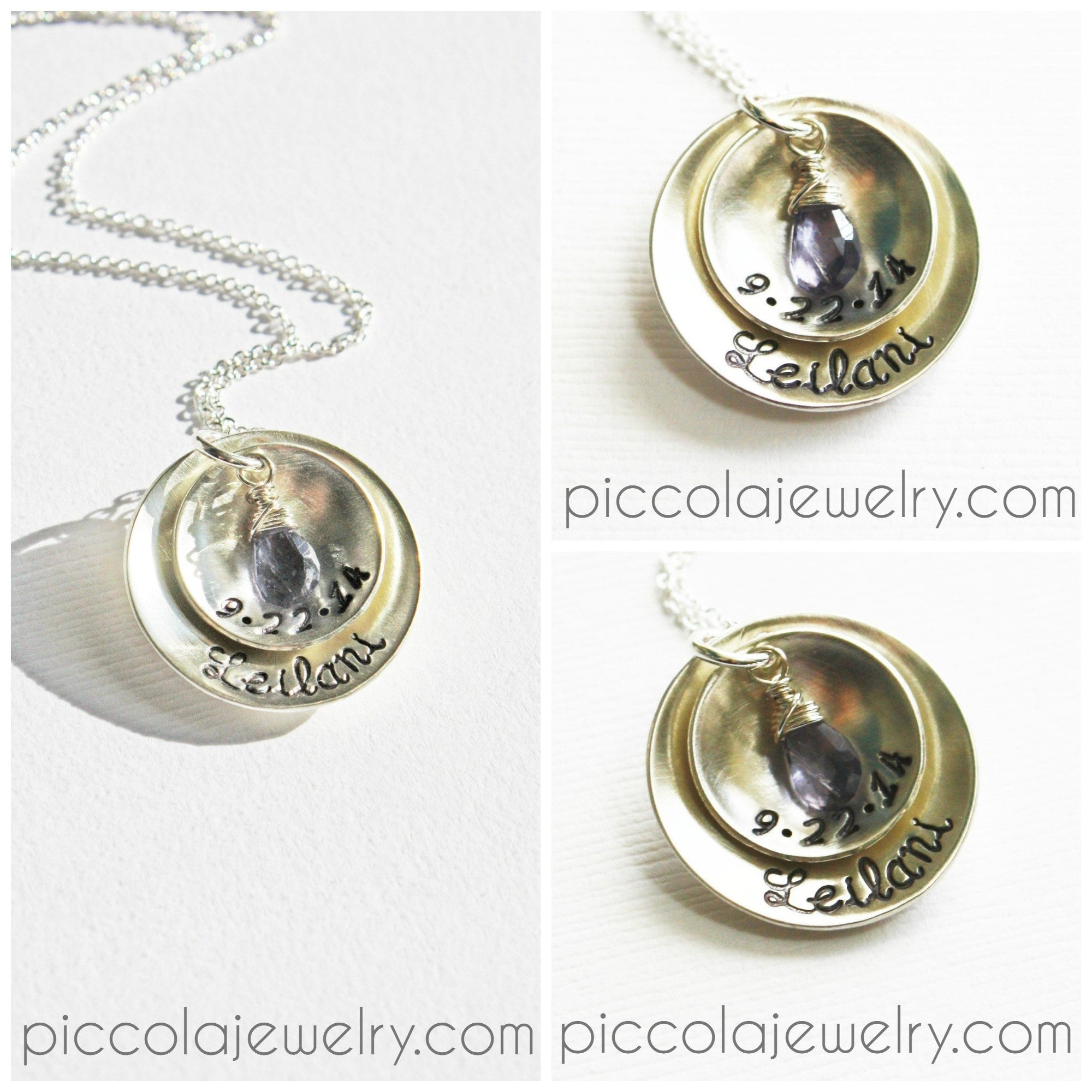 date personalized push present new color baby and feet necklace gold name products rose birthstone jewelry