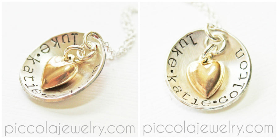 Two Tone Gold and Silver Name Necklace