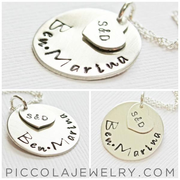 Family Keepsake Silver Pendant