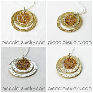 Family Pendant Tree of Life Necklace