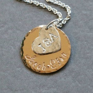 Piccola Jewelry Family Name and Initial Pendant