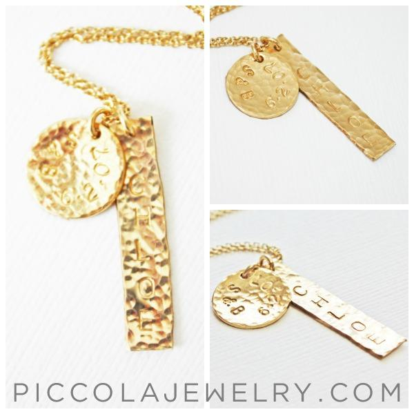 Gold Family Charm Necklace