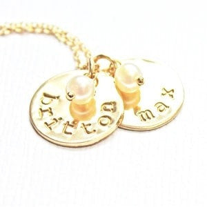 Gold Name and Pearl Necklace