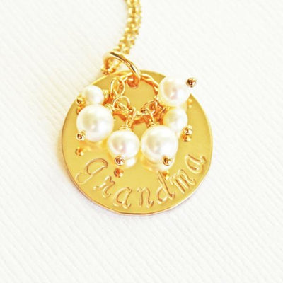 Personalized Gold Grandmother Jewellery