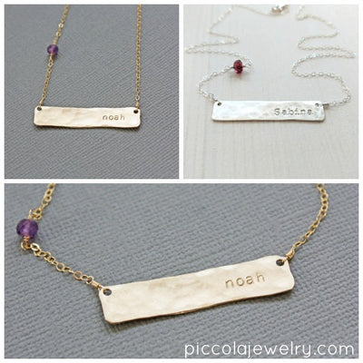 Push Present Nameplate Necklace
