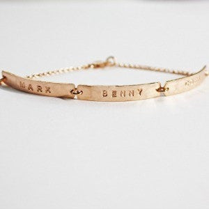 Skinny Gold Bar Bracelet