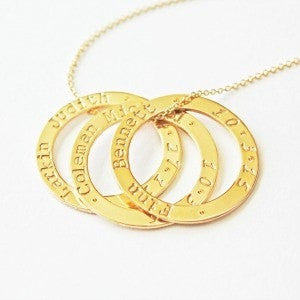 Mother of 1 2 3 4 Kids Name Necklace